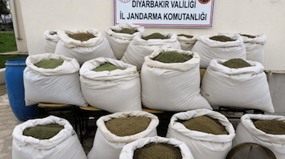 Over 800 kg of marijuana seized in SE Turkey