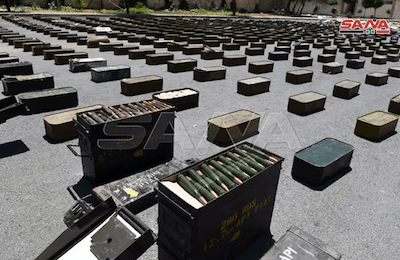 Syrian Army Announce Seizure Of American Made Weapons & Lots of Hashish
