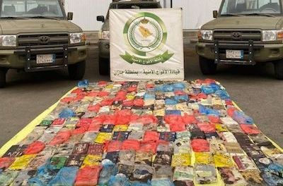 Saudi Arabia: 229kg of hashish, hidden in barley bags, seized in Jazan