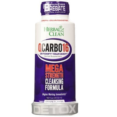 Herbal Clean QCarbo16 Tropical, 16 Fluid Ounce Mega Strength Cleansing Formula-Best Detox Drinks