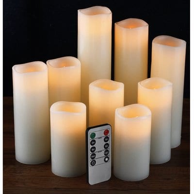 Flameless Candles, Battery Candles Set of 9(H 4 5 6 7 8 9 xD 2.2)-5 Best Candles