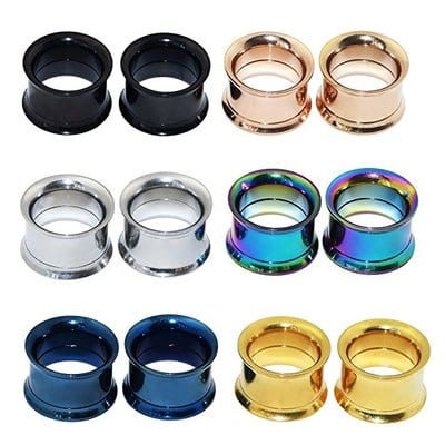 Longbeauty Stainless Colorful Steel Screwed-5 Best Ear Gauges