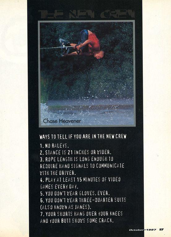 """the new crew ""1997年wakeboarding10月刊"