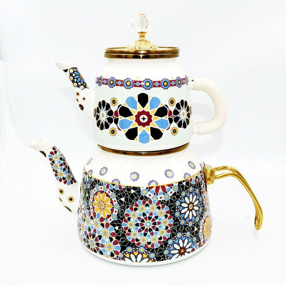 tea-pot-yellow-blue-turkish-vinatge-classic