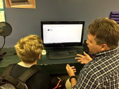 Student learns video editing for future career