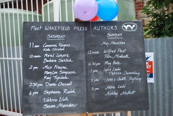 Book Market author schedule