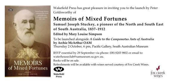 <em>Memoirs of Mixed Fortunes<em> launch