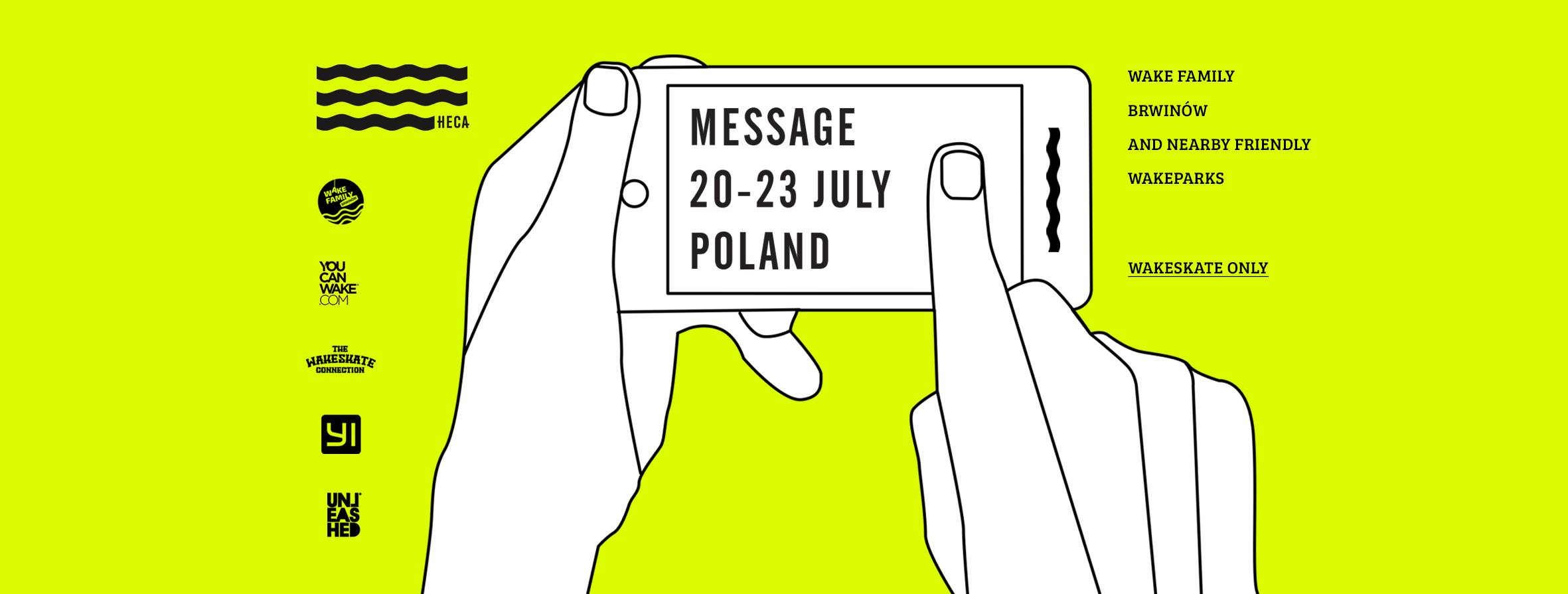 Message: 20-23 July 2018 Poland Wakeskate Session