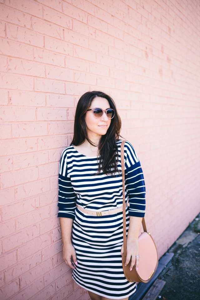 Casual Weekend Wear with J.Crew Nautical Stripe Dress - Waketon Road