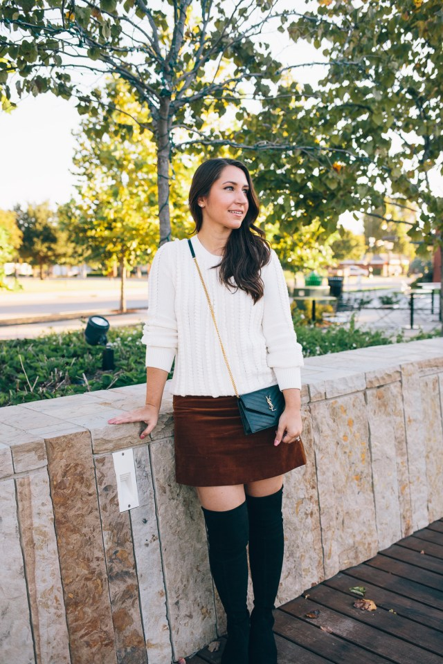 Over the Knee Boots featuring Stuart Weitzman Lowland on Waketon Road Blog
