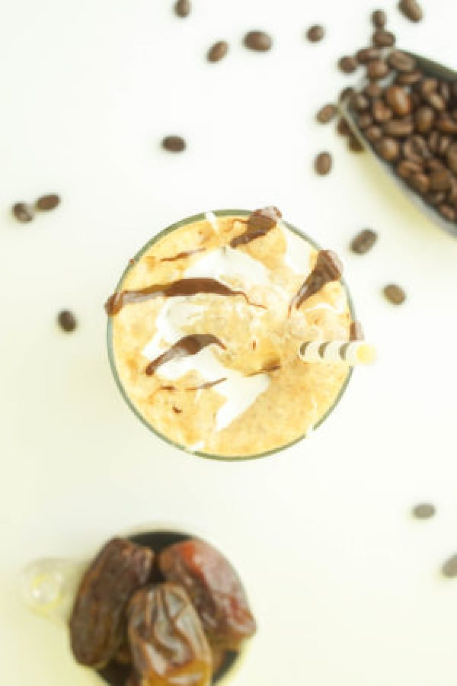 HEALTHY Java Chip Frappucchino! #healthy #caramel #frappucchino #recipe #coffee - www.wakeuptowaffles.com _
