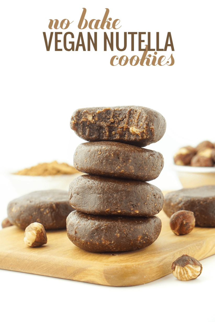 Raw Chocolate Hazelnut Cookies! Vegan, gluten-free, peanut-free! #healthy #vegan #glutenfree #chocolatehazelnut #raw #cookies #sugarfree #nutella #nobake