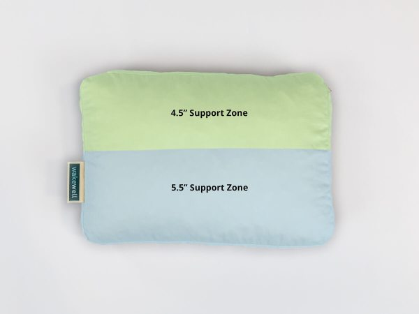 WakeWell Zoned Adjustable Pillow Size Travel picture of support zones