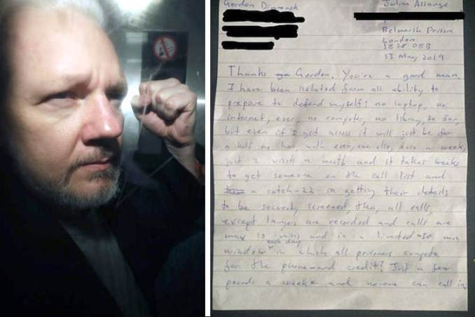 Julian Assange Writes a Letter to Supporters From British Prison, Here is What He Said