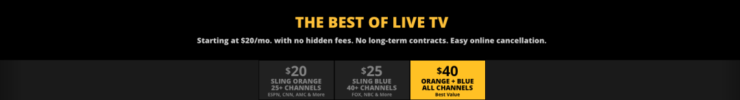 Sling TV Orange + Blue - Sling TV: More of the Same