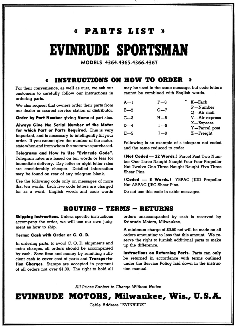 4366 Evinrude Sportsman Parts Diagram – Antique Outboard Motor Club,Inc