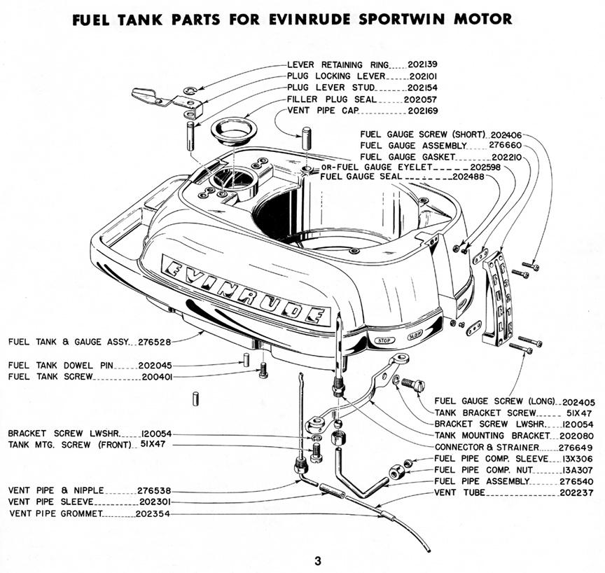 1948 3 3hp Evinrude Parts Diagram  U2013 Antique Outboard Motor