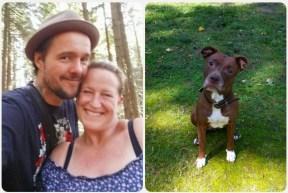 Vermieter Paar mit Hund Dirk, Silvana und Lunchen