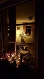 Blick ins Wohnzimmer zur Weihnacht Ferienwohnung Wald Kobel