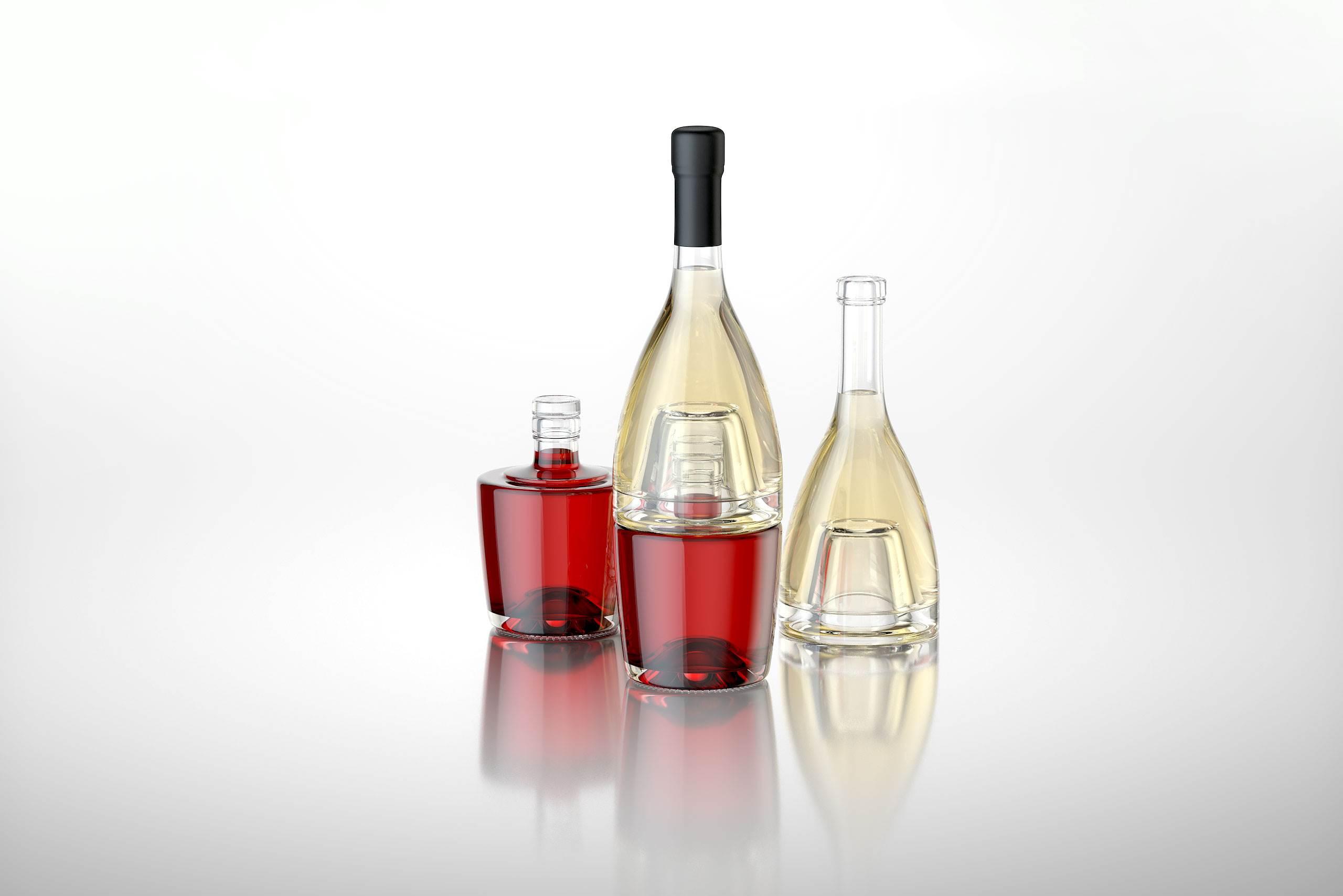 Jumeaux 3D Model Of Bottle For A Wine Or Vinegar WA