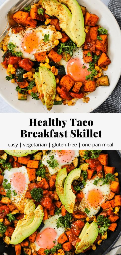 taco breakfast skillet pinterest graphic