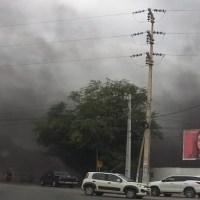 Incêndio em galpão assusta moradores de Petrolina, situação já foi controlada pelos Bombeiros