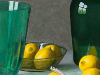 Green Glass & Yellow Lemons