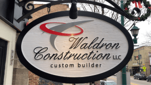 Waldron Construction Sign