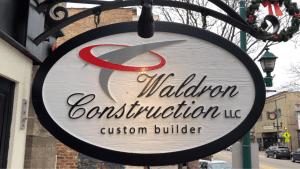 Waldron Construction Sign