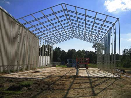 Steel Building Frame System