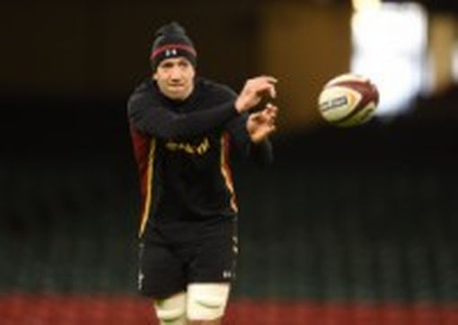 Justin Tipuric in training ahead of his 50th Wales cap