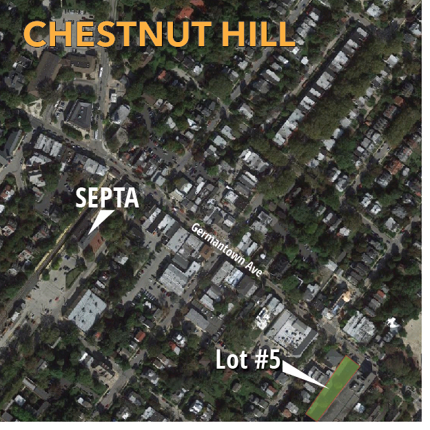 Chestnut Hill has one public lot, but plenty of foot traffic.