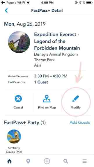 How to modify a fastpass