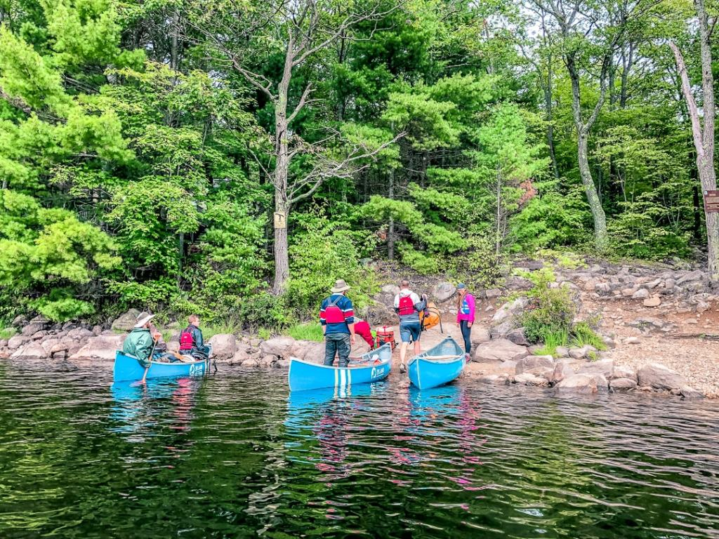 canoe and portaging at kawartha highlands