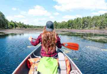 canoeing on a canadian canoe trip