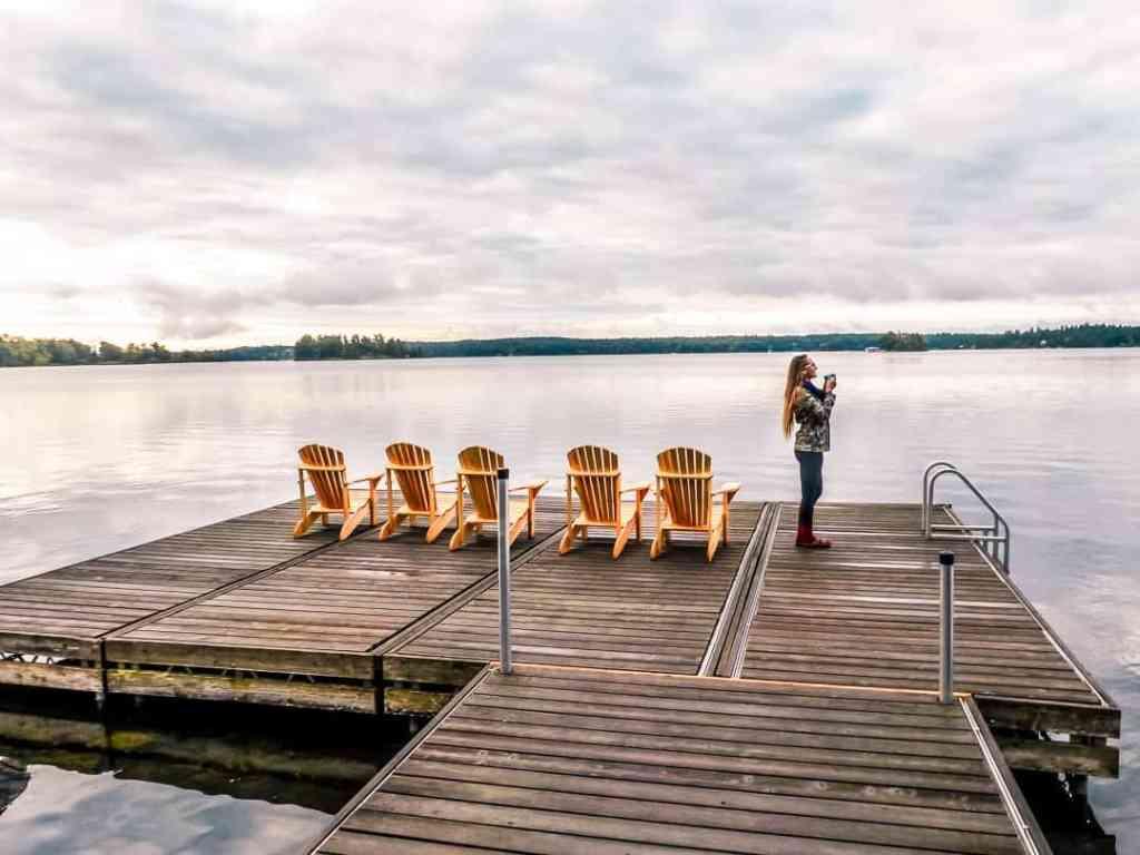 coffee on the dock at viamede resort