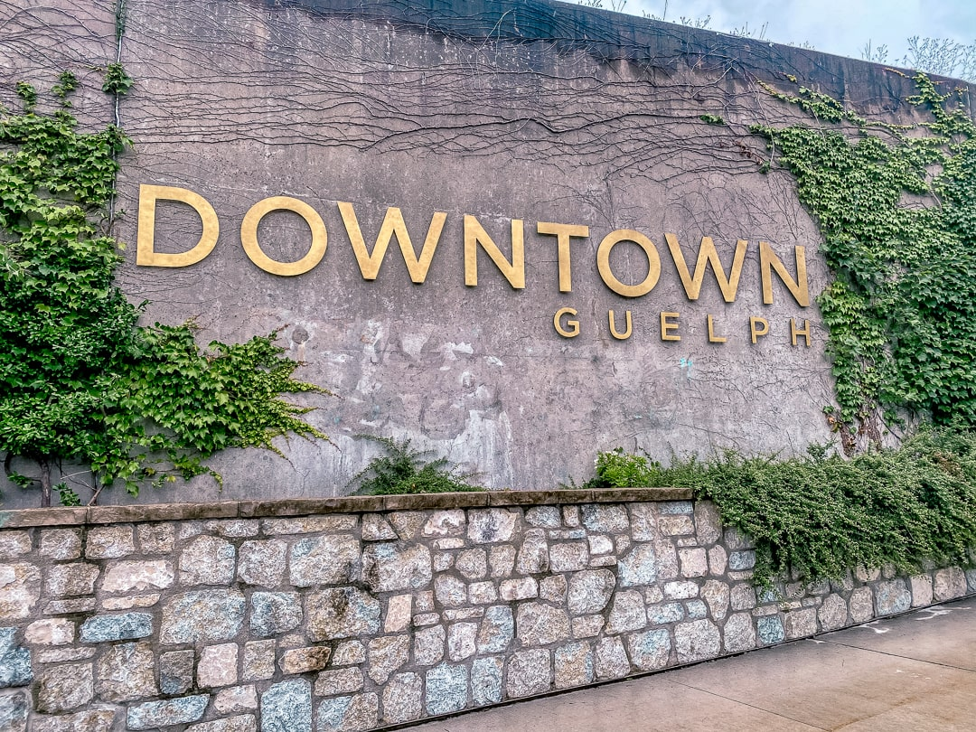 Downtown Guelph sign