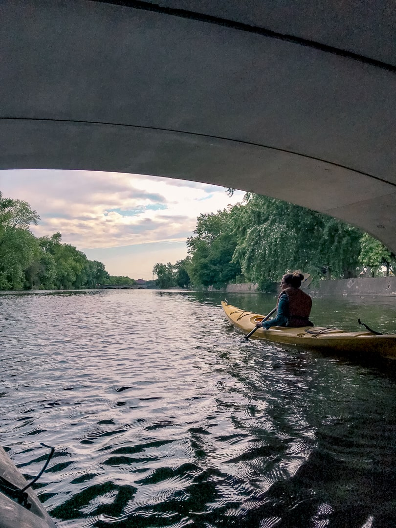 Kayaking the speed river in Guelph