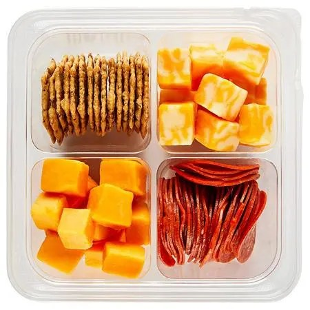 cheese and meat plate travel snacks