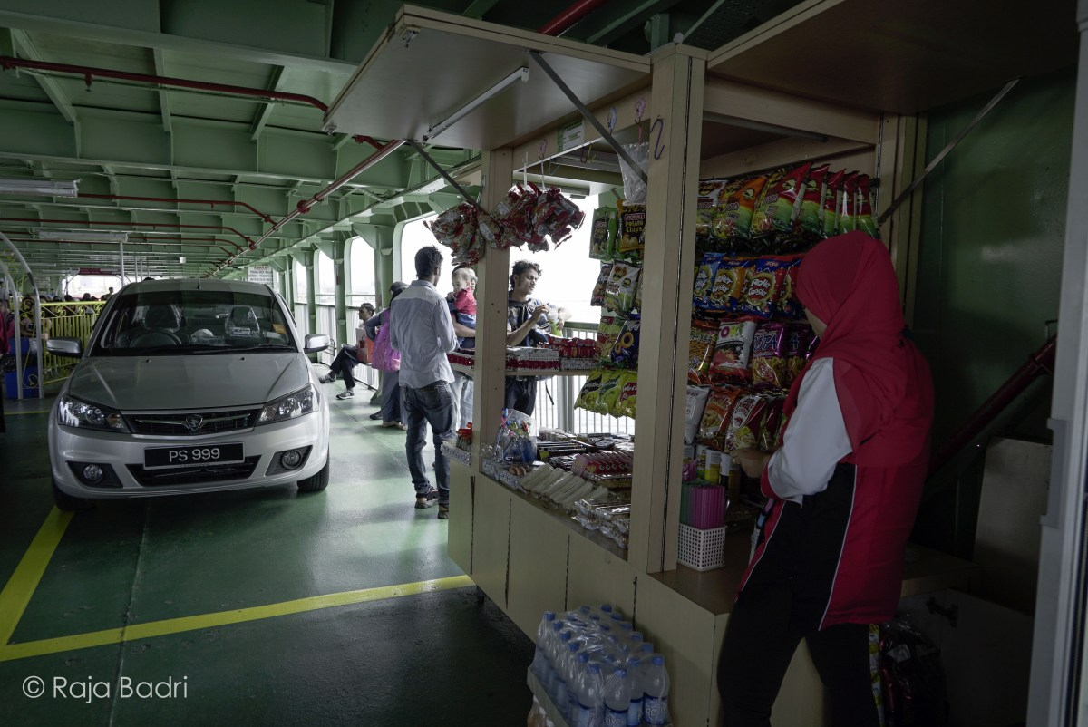A small stall selling drinks and snacks