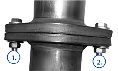 correct exhaust flange bolt torque