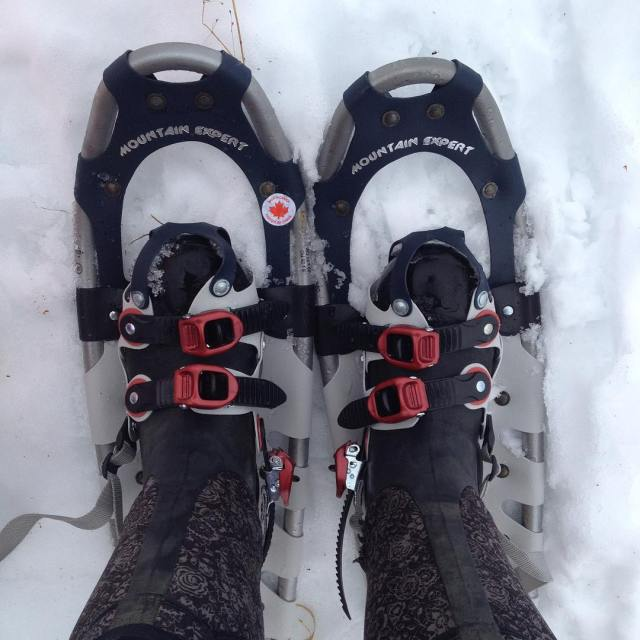Finally got snowshoes! Well one of two pairs I thinkhellip
