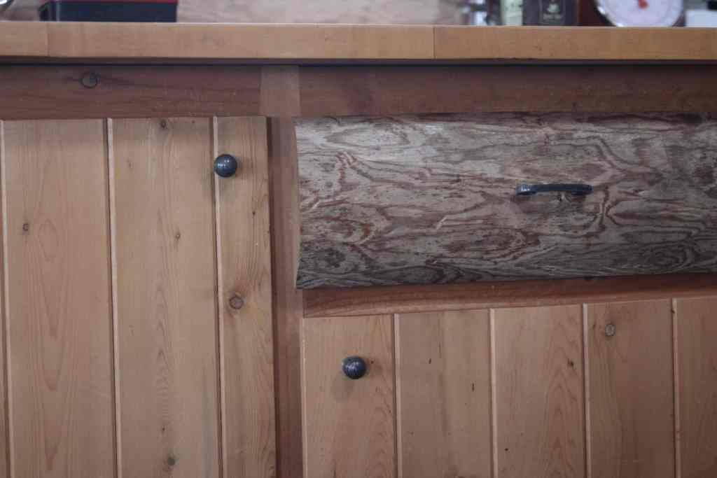 Handmade rustic kitchen cabinetry