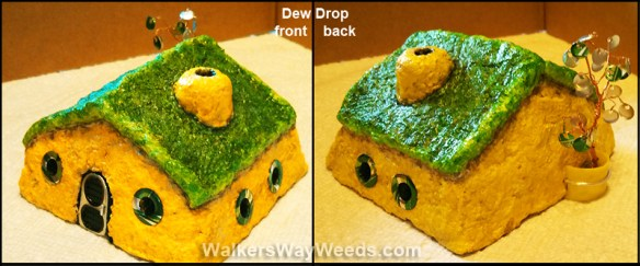 Papercrete Dew Drop Fairy House