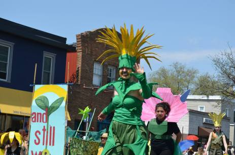 Parade dandelion woman