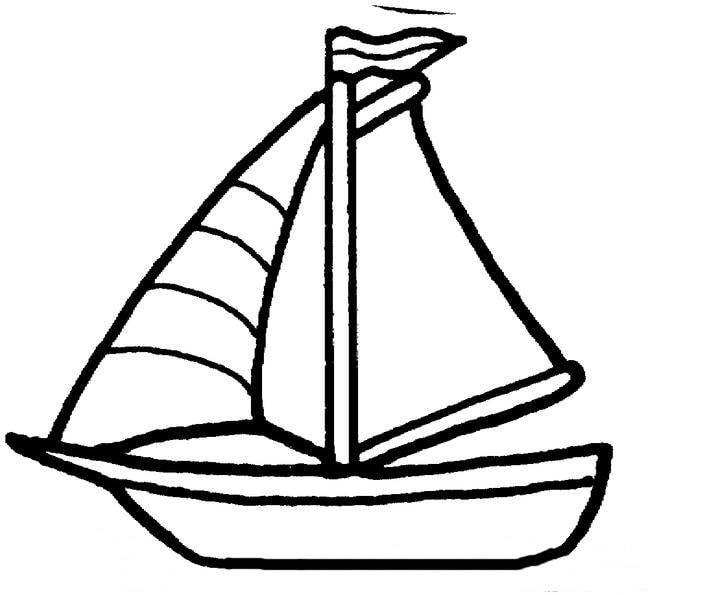 sloop colouring pages