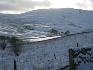 Ettrick Scotland in Snow. Image from BordersHolidayLets.Co.Uk