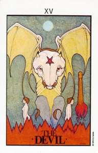 The Devil from The Aquarian Tarot by David Palladini
