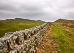 Dry Stone Wall along stretch of Hadrians wall near housesteads northumberland
