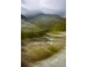Abstract photo of mountain in Canada